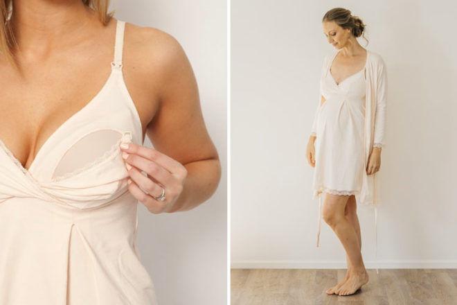 Best Maternity Sleepwear: Sorella Organics nursing nightie