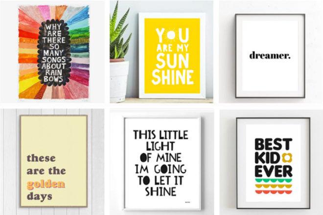 Sweet Sayings for nursry walls