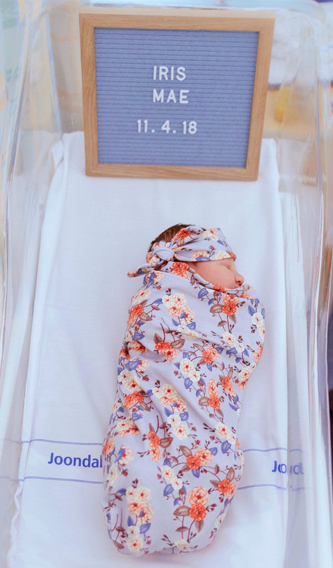 Unexpected home birth of Iris Mae