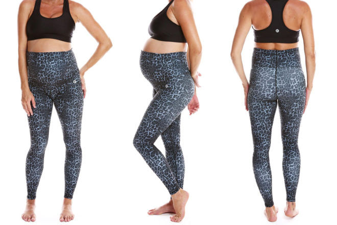 active truth Leopard maternity tight