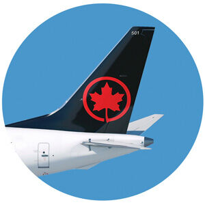 air canada tail wing