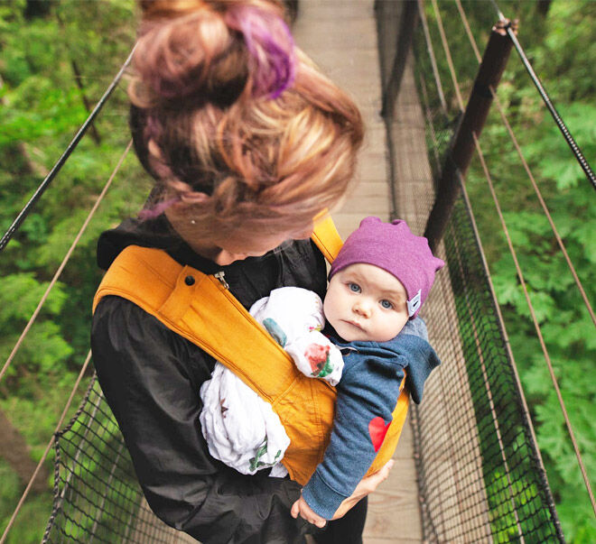 Baby carrier for clingy baby