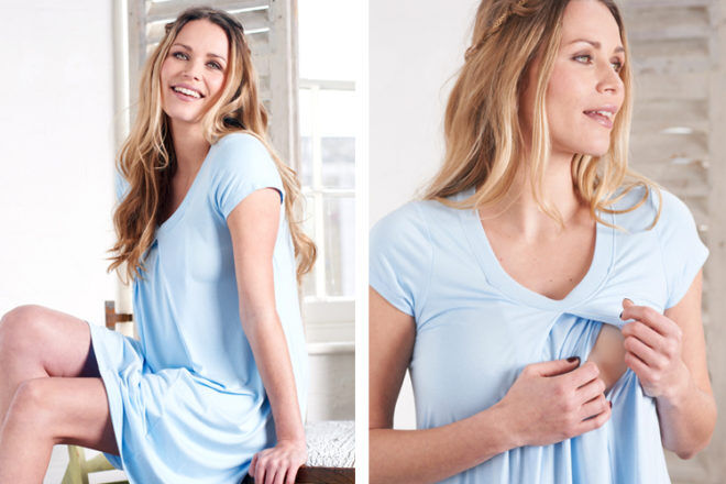 floressa lara blue Nursing Gown