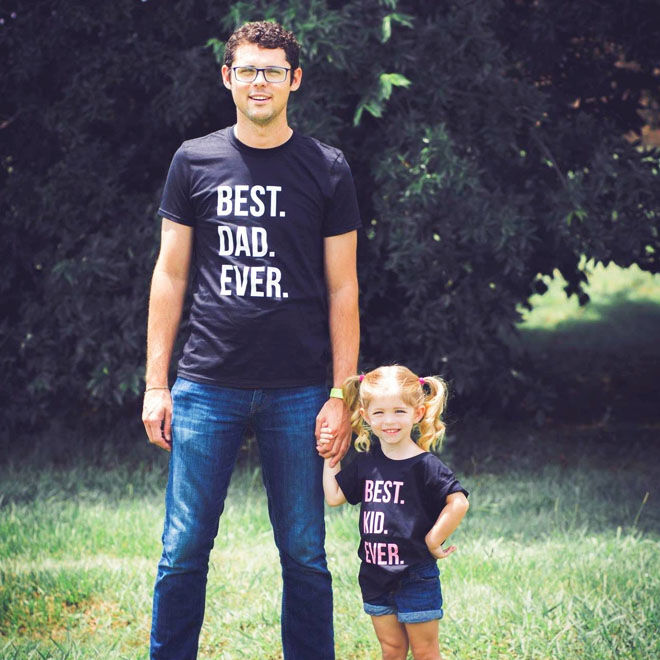 Best dad ever, best kid ever. Matching tees for father and daughter
