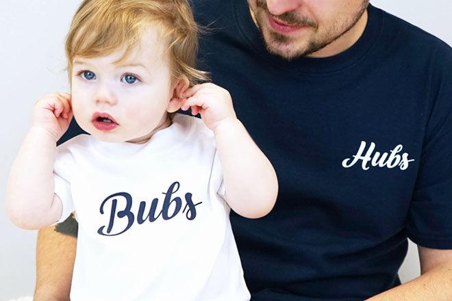 Bubs and hubs matchy-matchy tee