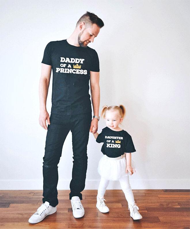 Daddy's Princess matchy matchy t-shirt Etsy