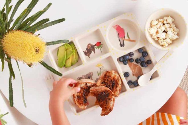 Divided plates for no-touch toddler meals | Mum's Grapevine
