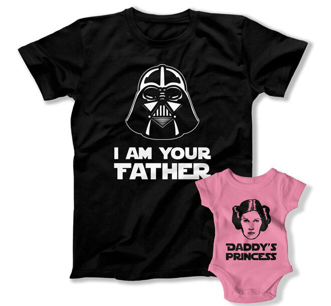 Star Wars Father's Day matching tshirts