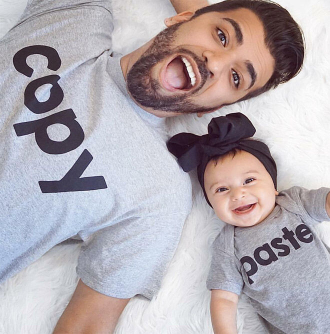 Father's Day matching outfit copy paste tshirts