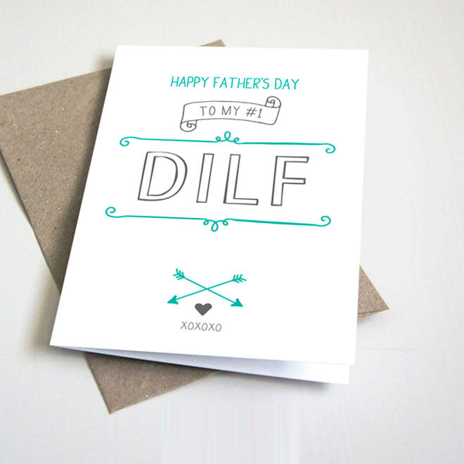 Funny Father's Day card, dilf