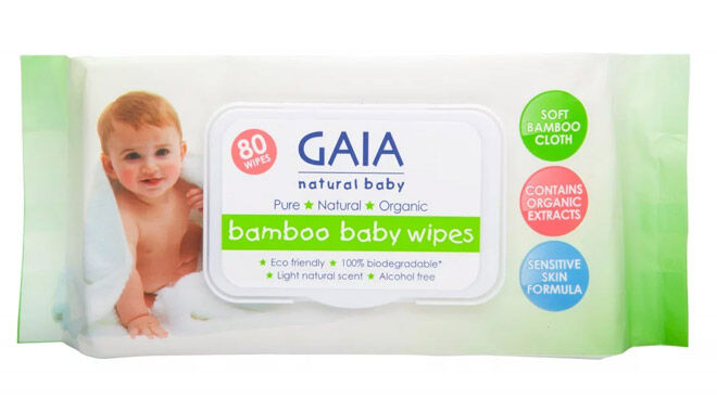 Gaia Bamboo Baby Wipes review