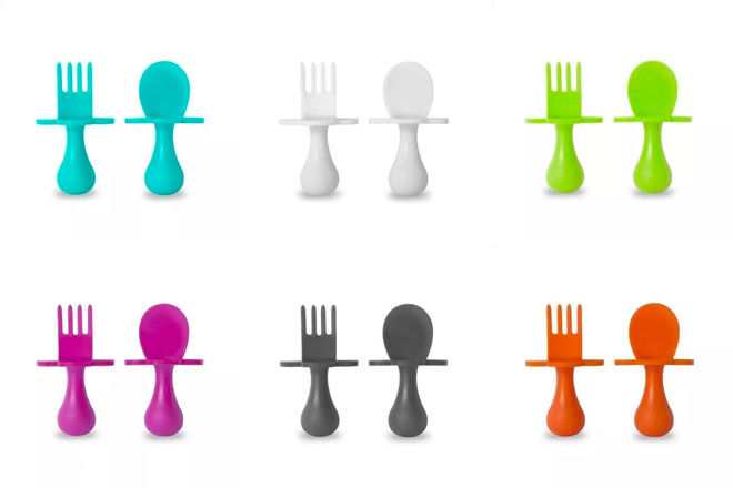 Grabease baby cutlery, six colours available