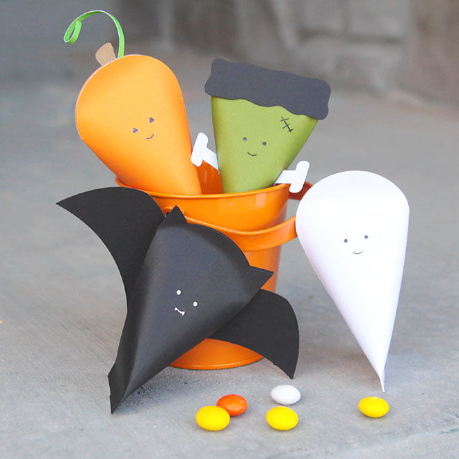 Halloween characters for lolly bags