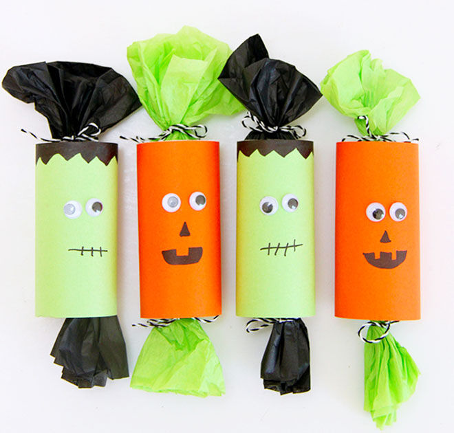 Halloween party poppers, DIY