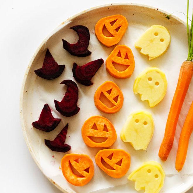 Halloween roasted vegetables