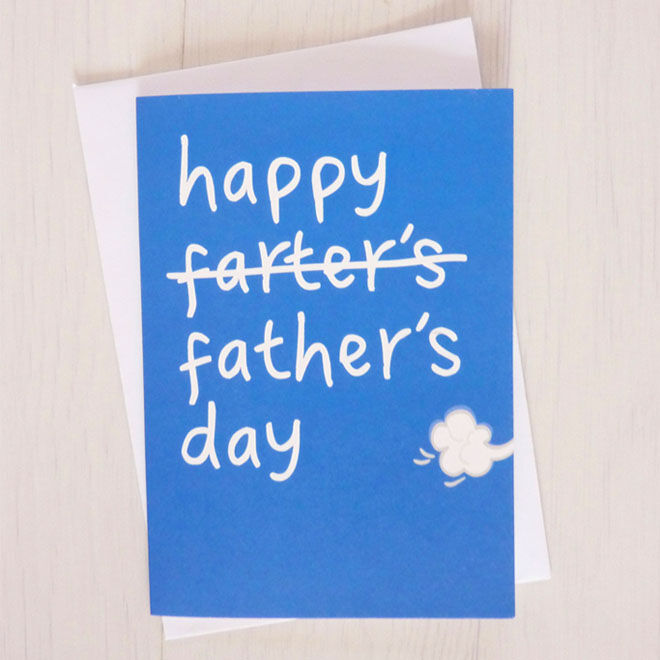 Funny Father's Day cards, a simple mispelling