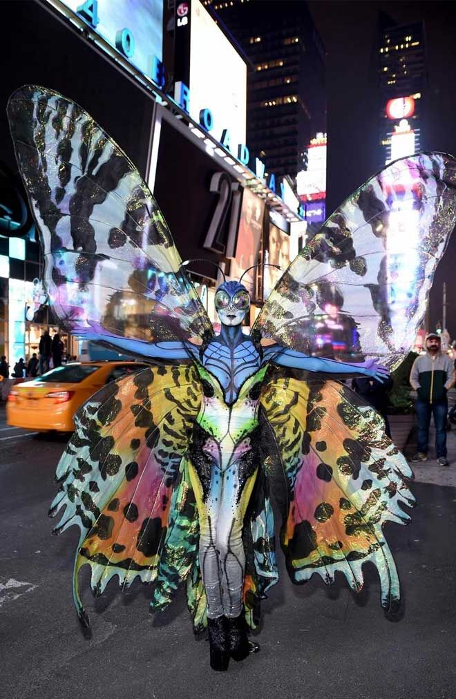 Heidi Klum butterfly costume