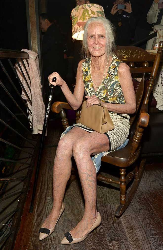 Heidi Klum old lady costume