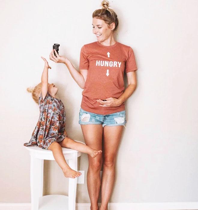 Hungry maternity t-shirt