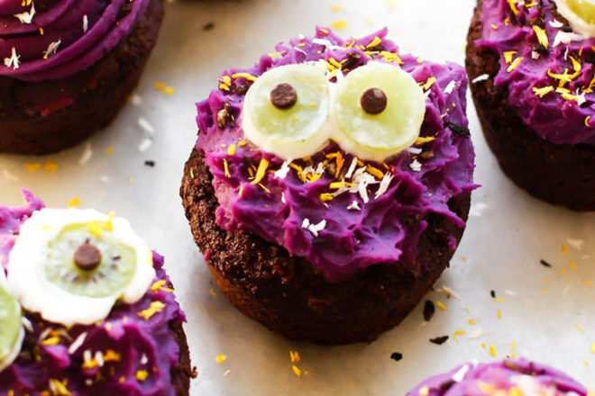 Monster cupcakes - a healthy alternative for Halloween