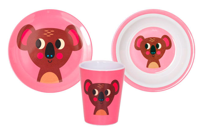 OMM Design Koala Melamine Plate, Cup and Bowl