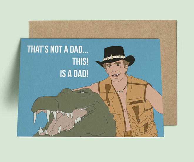 Croc Dundee father's day card