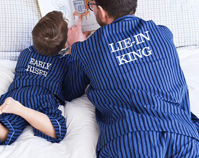 Personalised father and son pyjamas for Father's Day