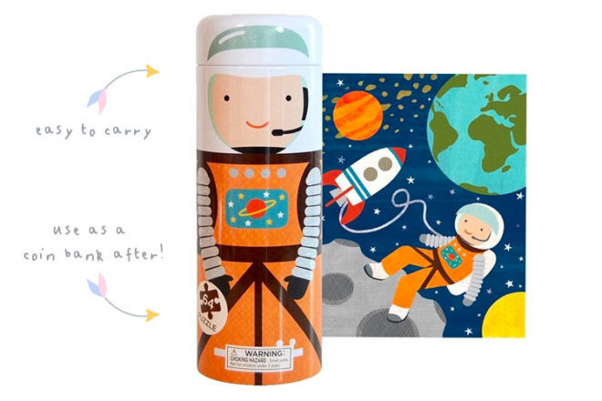 Tin space puzzle by Petit Collage