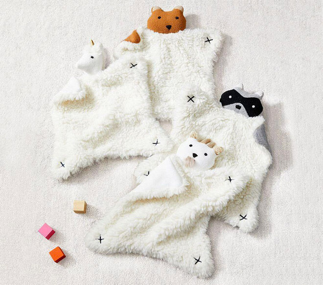 west elm x pbk Plush Animal Security Blankets