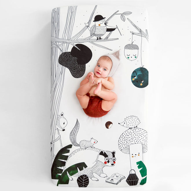 Rookie Humans Woodland Dreams cot sheet