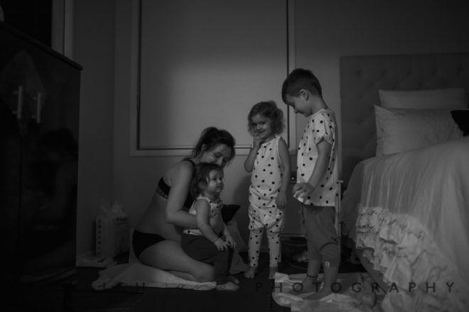 Siblings at baby's homebirth