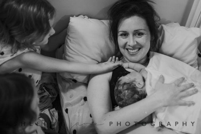 Fourth child homebirth