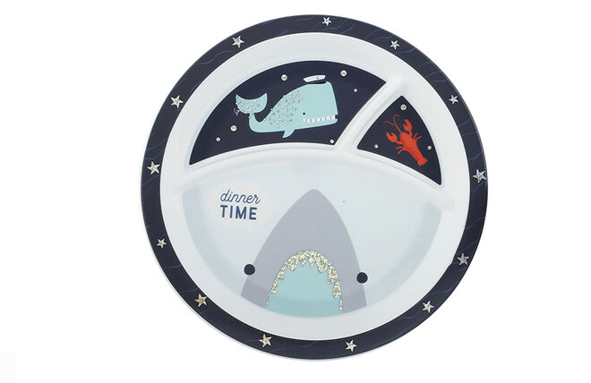 Shark themed divided plate
