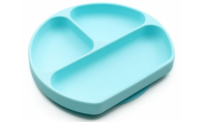 Silicone divided baby plate