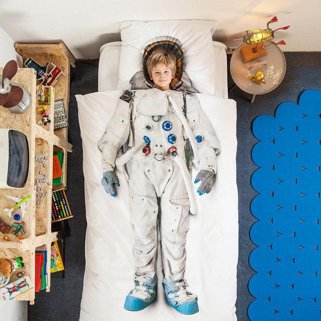 Snurk astronaut quilt set