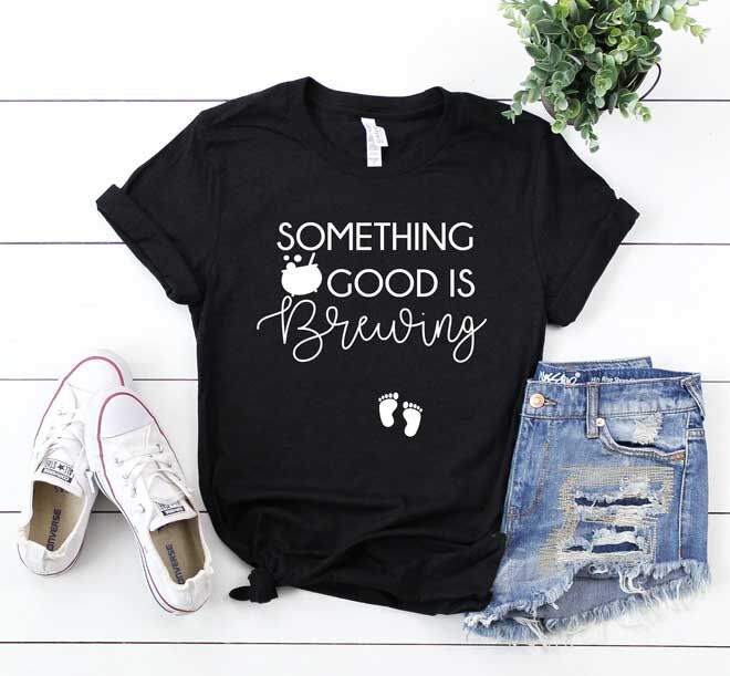 Something Good is Brewing Halloween maternity tee