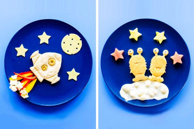 Space sandwich cutters