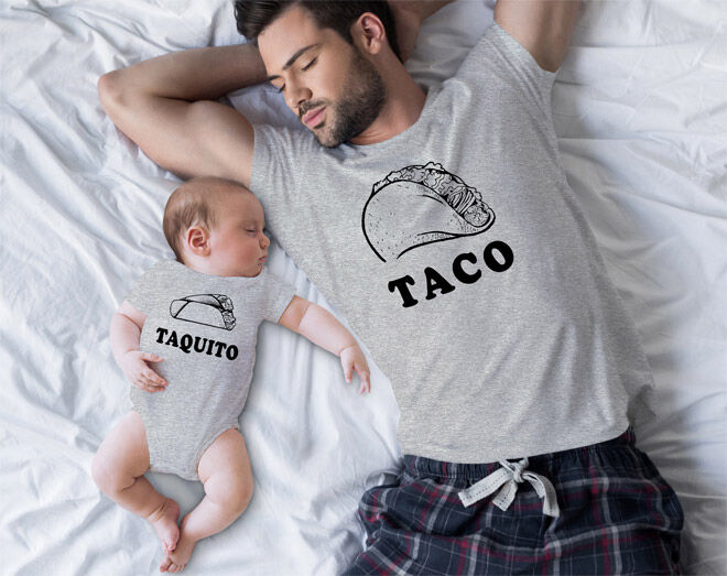 Taco Taquito matchy matchy fathers day t-shirt
