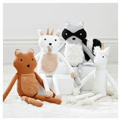 West Elm and Pottery Barn Kids plush toys