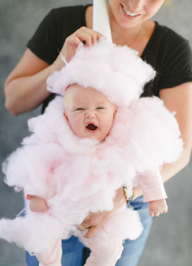 Halloween costume cotton candy