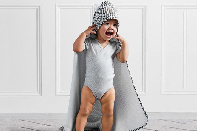 Pottery Barn Kids hooded towel