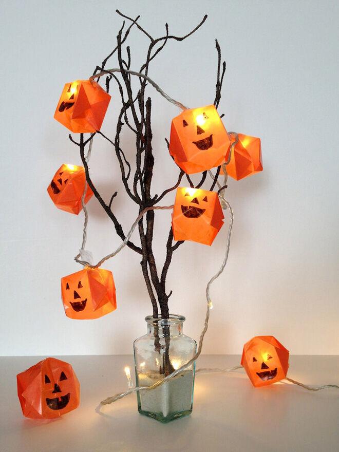 origami pumpkin tree halloween decoration