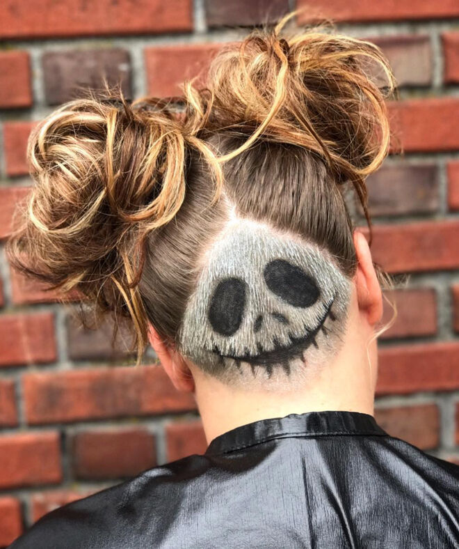 halloween hair skeleton