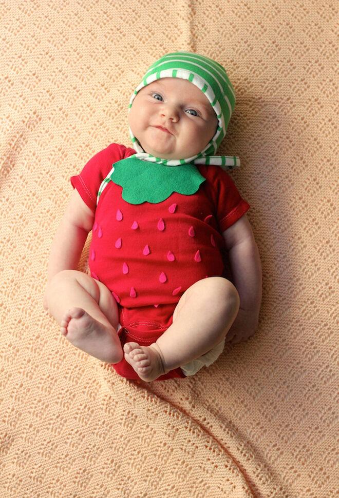 Halloween costume baby strawberry