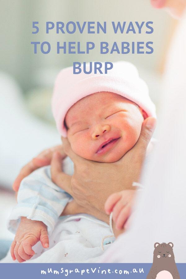 5 techniques to help babies burp