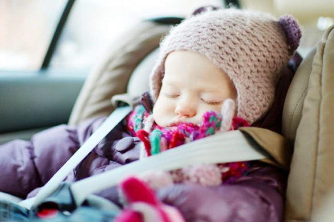 Baby asleep in car