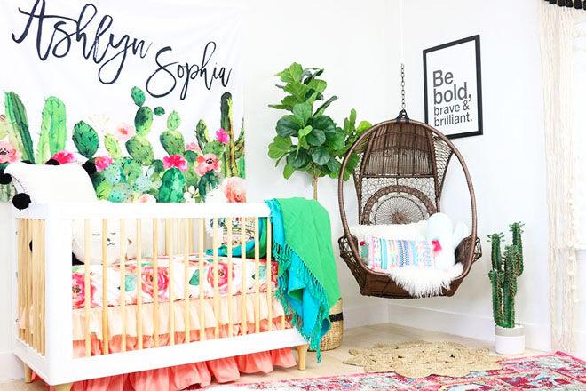 Cactus nursery theme