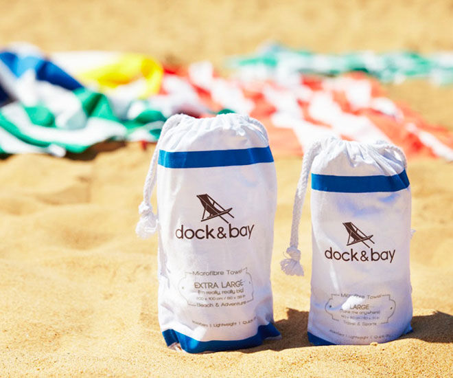 Summer Holiday Accessories: Dock & Bay family beach towels
