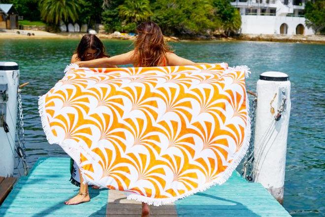 Round beach towels by Grace Garrett