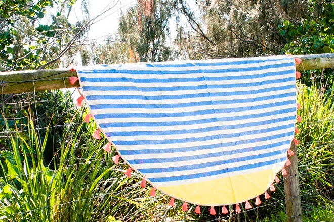 fringed family beach towels from I Love Linen